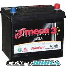 Аккумулятор A-mega Standart 3 Asia 60e